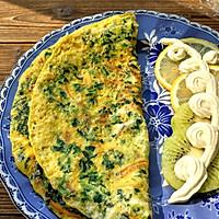 快手早餐——菠菜胡萝卜鸡蛋饼的做法图解5