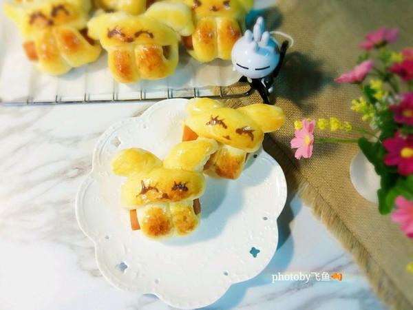 萌兔抱肠小面包的做法
