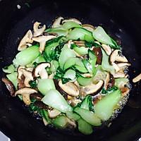 香菇炒油菜的做法图解6