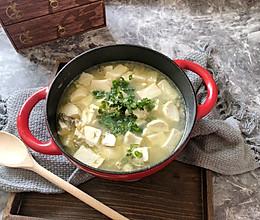 海蛎鱼糕豆腐汤的做法