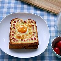 快手美味早餐:鸡蛋芝士烤土司的做法图解6