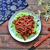 #餐桌上的春日限定#老北京人饭桌上少不了的京酱肉丝的做法图解12