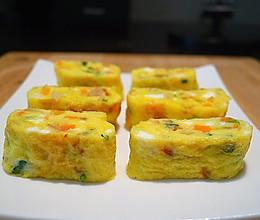 五彩斑斓的煎蛋卷#急速早餐#的做法