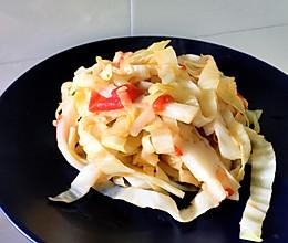 西红柿包菜的做法