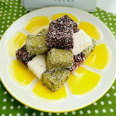 香浓三色椰丝奶冻(超Q弹,超简单,健康零食)