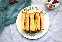 #快手早餐#三明治的做法