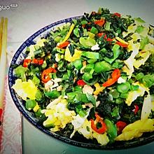 菜苔炒鸡蛋