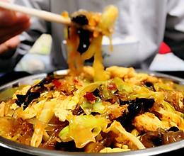 卷心菜炒粉条 鲜香美味包菜粉条的做法