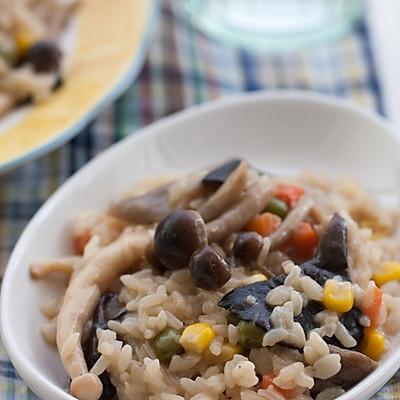 20分钟的营养快晚餐--杂烩蘑菇炖饭