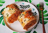 香葱肉松面包卷,香甜可口,松软筋道,满满肉松超级美味!的做法