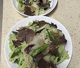 家常川菜腊肉炒花菜的做法