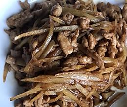 鲜姜丝炒肉的做法