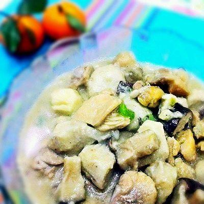 香菇芋头滑鸡丁(鸡腿切丁)