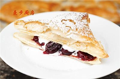 【曼步厨房】'樱桃季'的享受 - 樱桃千叶酥