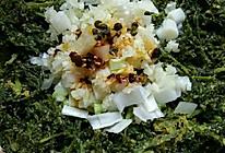 胡萝卜缨麦饭的做法