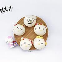 Hello Kitty猫一家人----卡通包子(豆沙馅)的做法图解16
