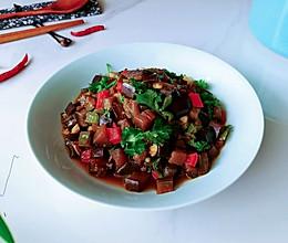 酱油椒椒蒜香茄的做法