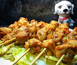 香烤菜蔬鸡肉串的做法