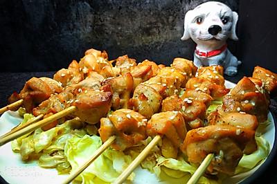 香烤菜蔬鸡肉串