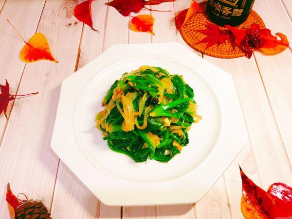 豆豉菠菜粉条的做法