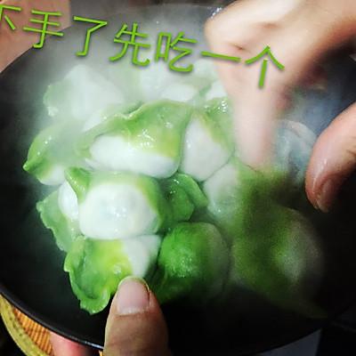 翡翠白菜-------新年饺子的做法 步骤8