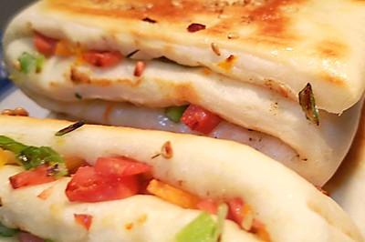 尖椒火腿发面饼