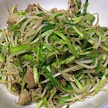 蒜苗炒绿豆芽