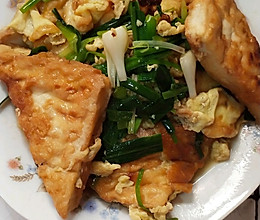 鸡蛋煎豆腐的做法
