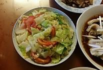 炒圆白菜的做法