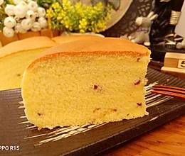 蔓越莓古早蛋糕~8寸低糖的做法