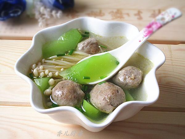 菌菇莴笋牛肉丸汤的做法