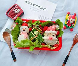 #令人羡慕的圣诞大餐#圣诞主题便当的做法