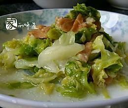 牛心菜炒面筋的做法