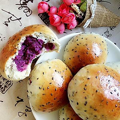 酸奶芝麻包(紫薯餡)