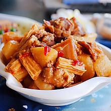 腐竹炖鸭肉