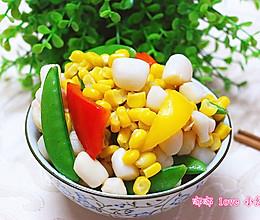 玉米鲜贝炒豌豆的做法
