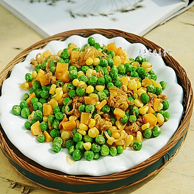 豌豆玉米炒鲍边