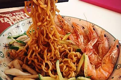 辛拉面之鲜虾拌面