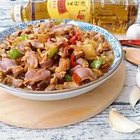 双椒爆炒鸡胗#金龙鱼外婆乡小榨菜籽油 最强家乡菜#的做法图解14