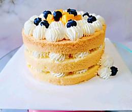 简单奶油蛋糕水果裸蛋糕的做法