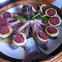 腊肠蒸鳊鱼的做法图解11