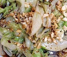 白灼圆生菜的做法