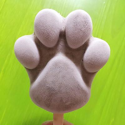 美味又卡通的狗爪红豆沙冰棒