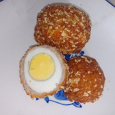 炸黄金肉蛋