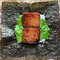 快手午餐肉饭团的做法图解6