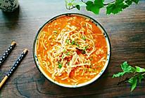 番茄烩金针菇#花10分钟,做一道菜!#的做法