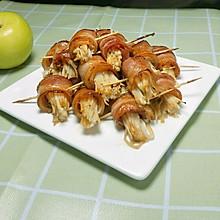 美味培根金针菇卷