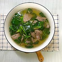 猪肝菠菜汤 #肉食者联盟#