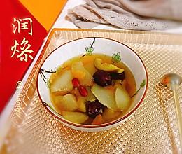 #今天吃什么#无花果陈皮炖雪梨的做法