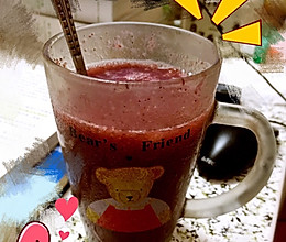 自制葡萄(红提)果汁冰沙的做法